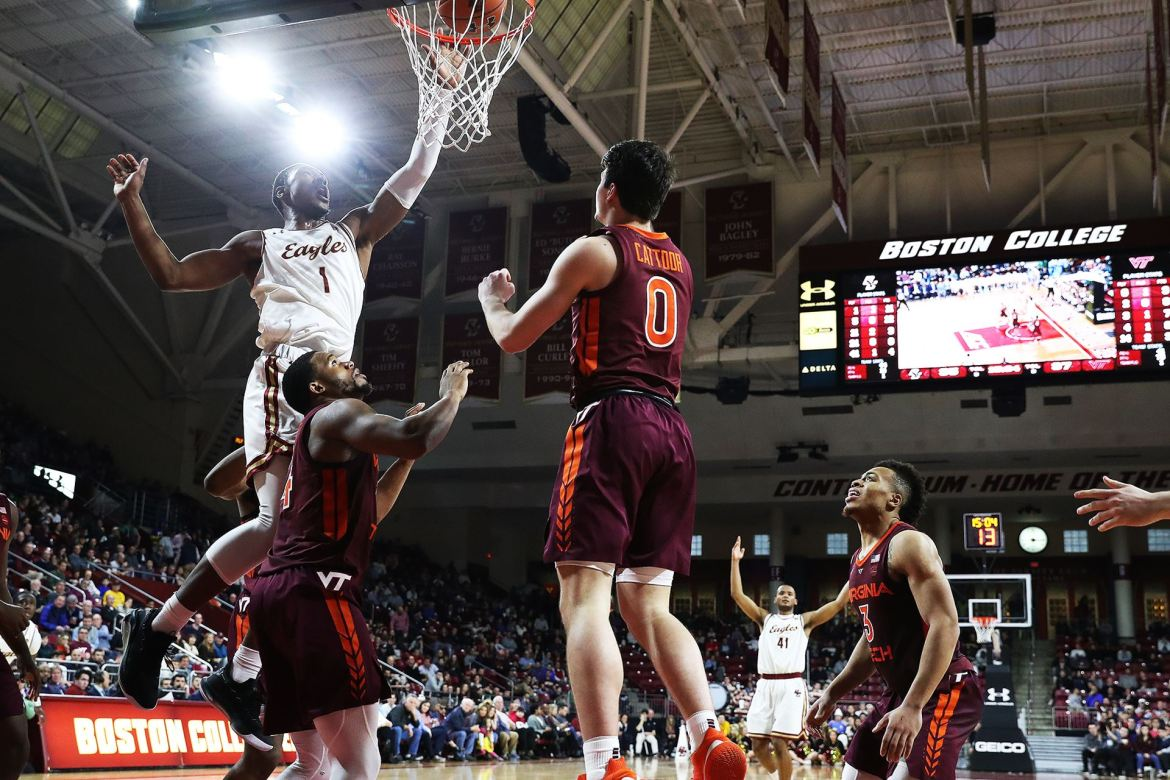 Boston College snaps four game skid with 61-56 victory over Virginia Tech