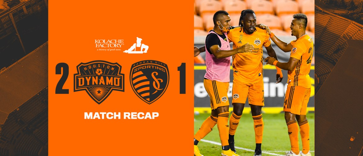 Dynamo rally to beat Sporting KC 2-1 for third straight victory