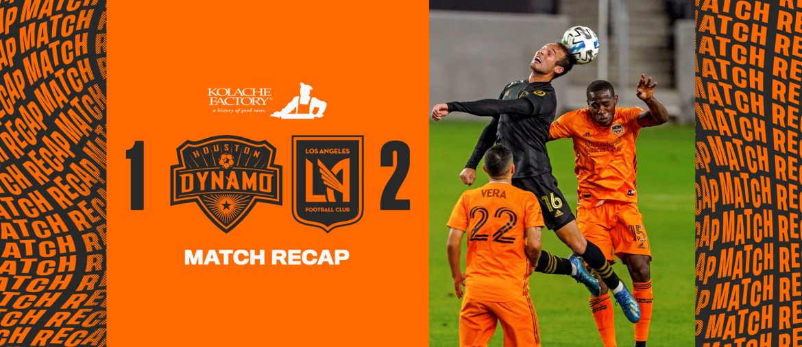 Down a man, Houston Dynamo fall 2-1 at Los Angeles FC