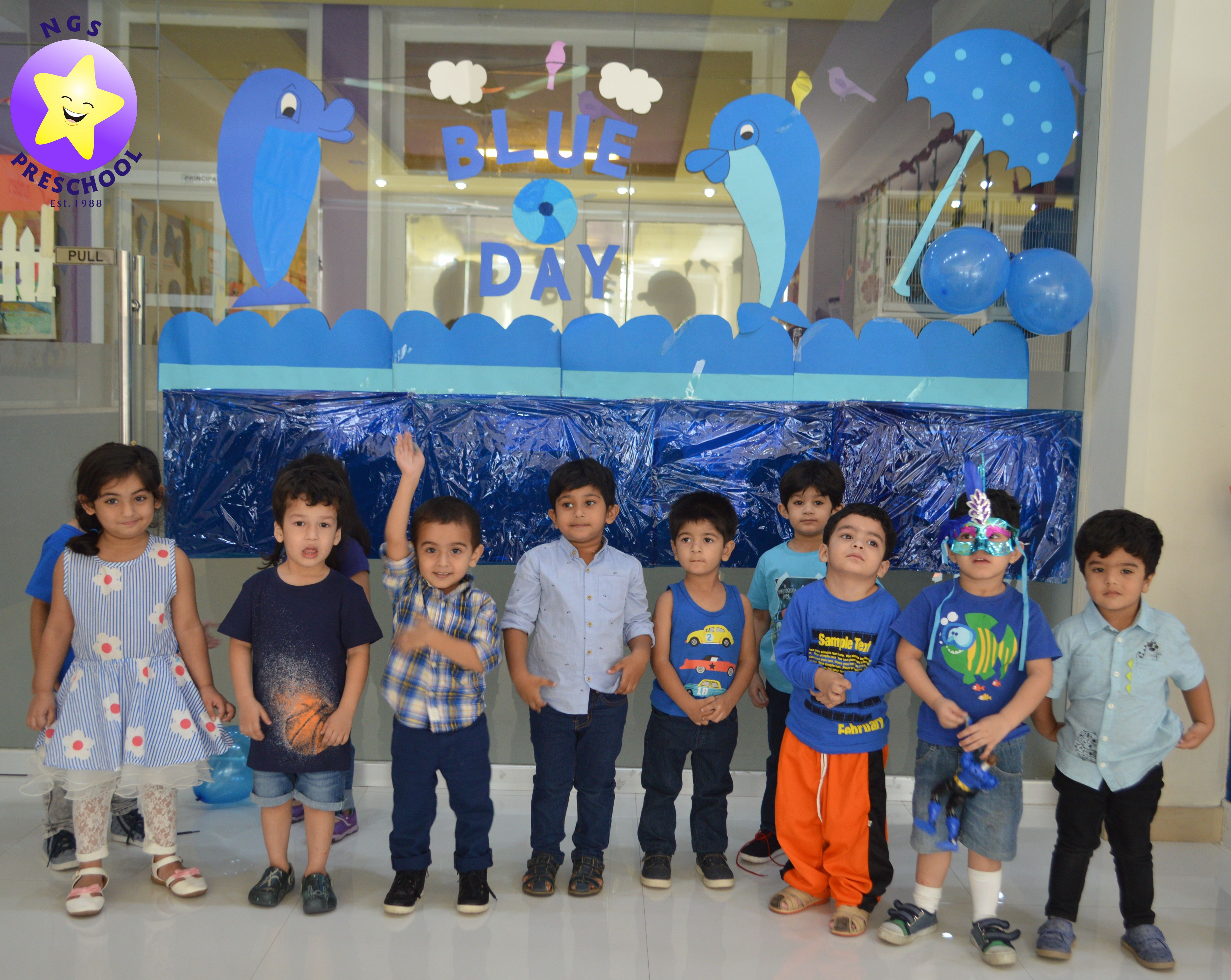 Blue Colour Day Playgroup