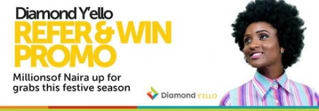 Diamond yello account refer and win promo