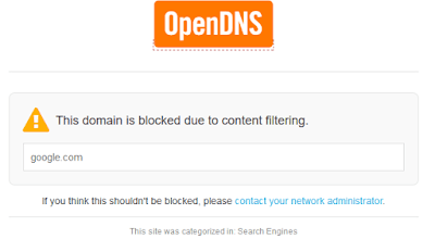 domain is blocked