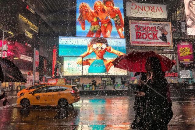 ภาพถ่ายตอนกลางคืนในนครนิวยอร์ก