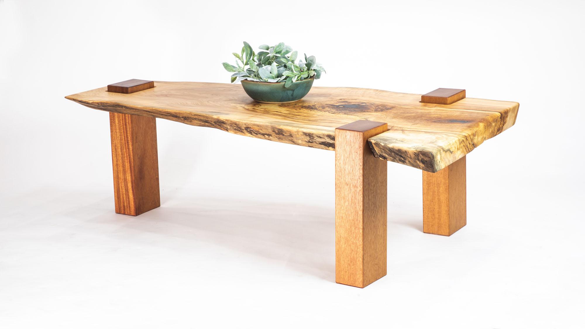 stilted slab coffee table
