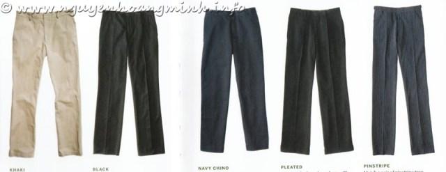 Các chất liệu vải của quần Tây