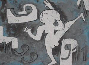 Dance 07, acrylic painting by Nguyen Thi Mai