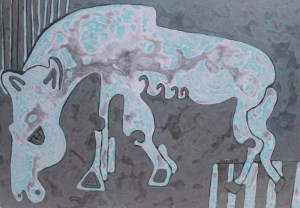 Grazing 02, acrylic painting by Nguyen Thi Mai