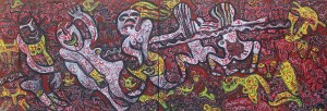 Happy Spirits 01, acrylic painting by Nguyen Thi Mai