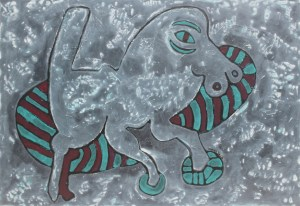 Horseshoes, an acrylic painting by Nguyen Thi Mai