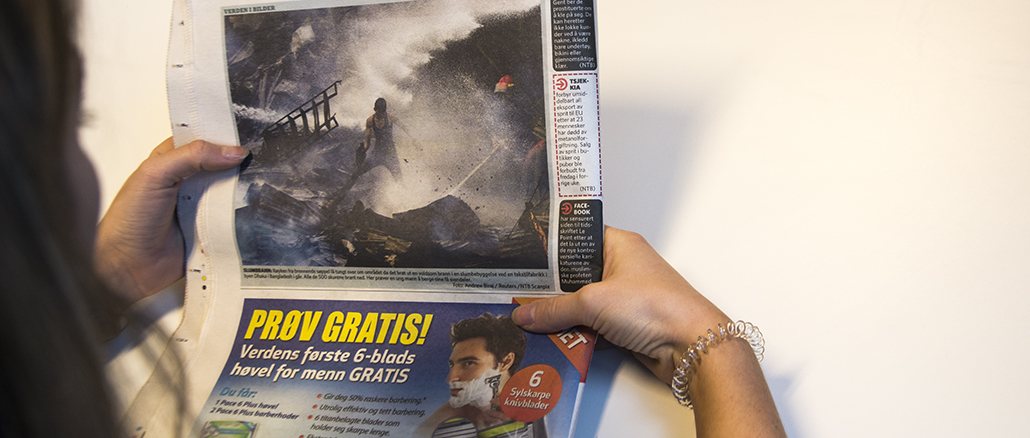 Det er viktig å opprettholde et tydelig skille mellom journalistikk og reklame, mener kronikkforfatteren. Illustasjonsfoto: Sofie Helene Olaussen Flatvoll