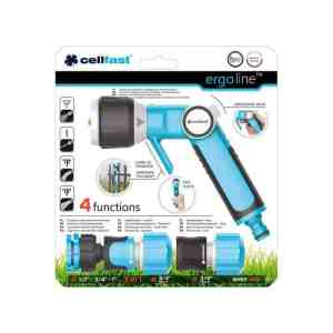 Bộ vòi tưới tay gạt nhiều chế độ Cellfast Ergo 27mm