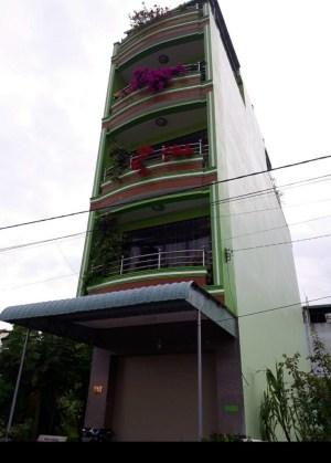 Nhà cho thuê 1 trệt 4 lầu ở KDC Ngân Thuận