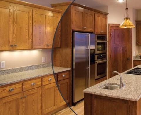 Kitchen Cabinet Refinishing, Cabinet Spray Painting, Cabinet Restaining, Cabinet Refacing, Resurfacing & Kitchen Remodeling
