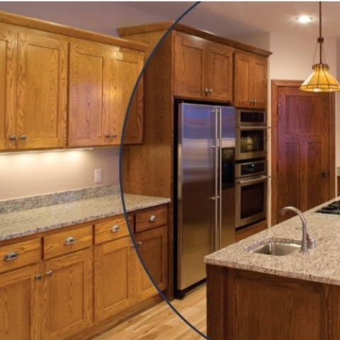 Kitchen Cabinet Refinishing, Cabinet Spray Painting, Cabinet Restaining, Cabinet Refacing, Resurfacing & Kitchen Remodeling