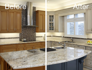 Kitchen cabinet refinishing painters