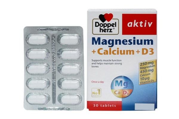 Magnesium Calcium D3 Dopel Herz Aktiv - viên bổ sung canxi magie Đức giảm đau mỏi cơ xương, chuột rút