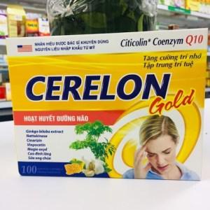 Cerelon gold thuốc hoạt huyết dưỡng não, bổ não, tăng cường trí nhớ, tăng tập trung