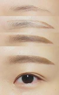 bước makeup - kẻ lông mày
