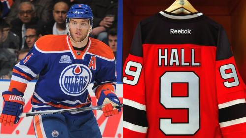 Image result for taylor Hall jersey