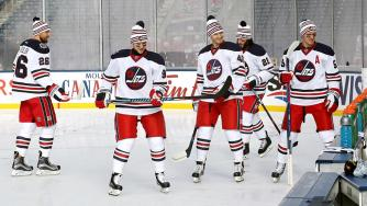 Image result for winnipeg jets heritage classic 2016 game
