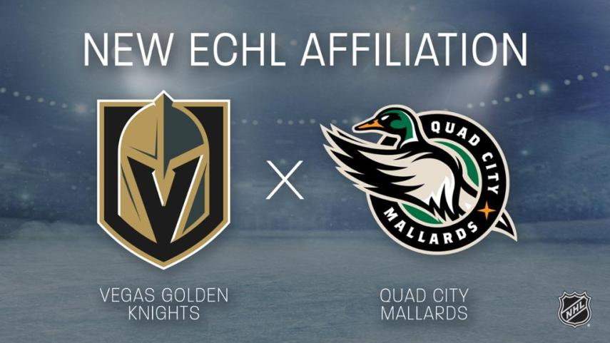 Golden Knights And Quad City Mallards Enter Into ECHL Affiliation