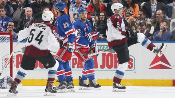 Image result for colorado avalanche vs new york rangers