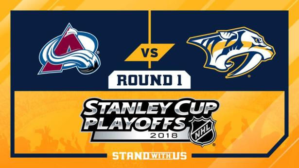 Image result for Stanley Cup Playoffs colorado avalanche vs nashville predators