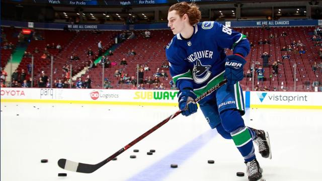 Image result for canucks adam gaudette