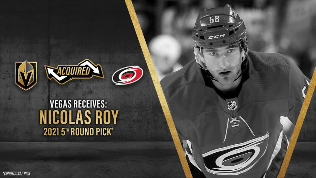 Roy was traded to Vegas