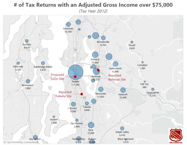 Puget Sound IRS returns Map