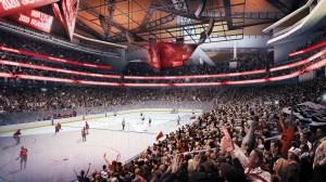 Interior seating bowl view – Hockey configuration