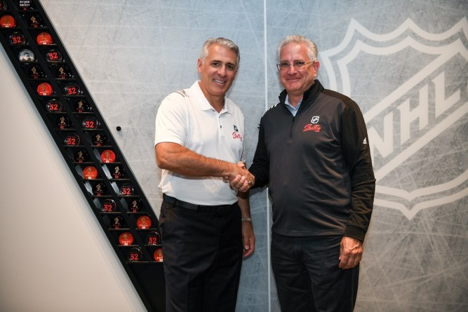 Ron Francis, General Manager, NHL Seattle and Tod Leiweke, CEO, NHL Seattle