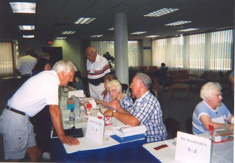 1999 Olson at Registration Desk