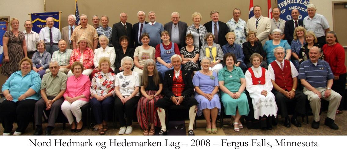 Nord Hedmark og Hedemarken Lag 2008 Fergus Falls Minnesota