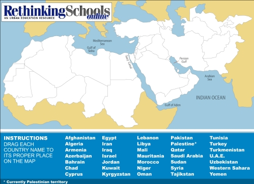 Middle East Map Game