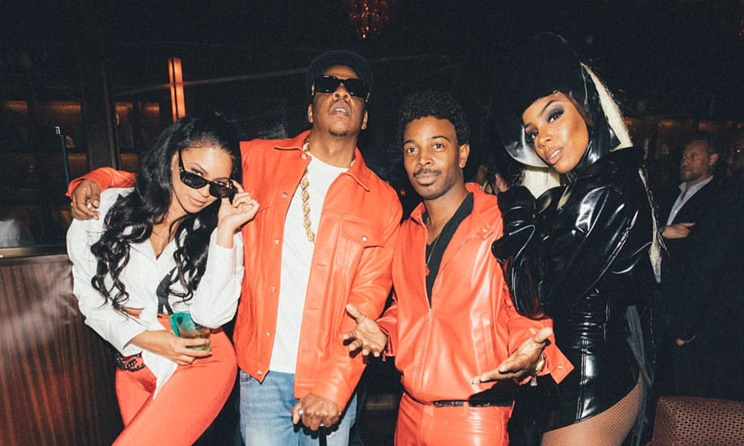 Beyonce JAY-Z Tim Weatherspoon And Kelly Rowland