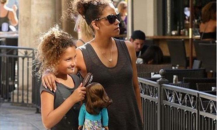 Nahla Halle Berry Playing With Doll