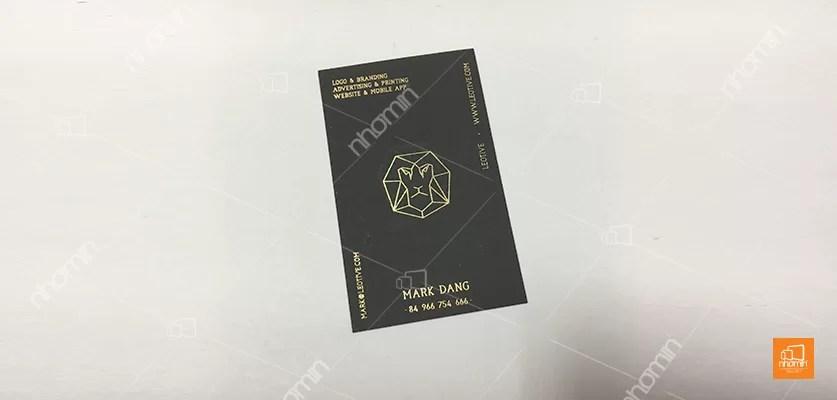 mẫu card visit cho giám đốc