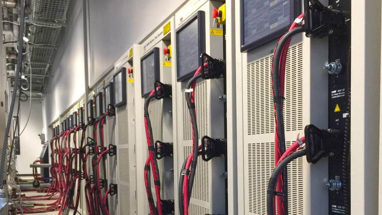 A123 Systems set up of NHR Battery Test System - NH Research (NHR)