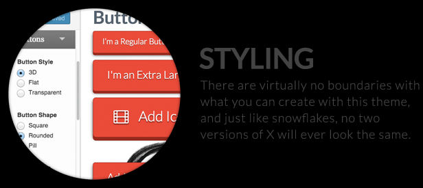 The X Theme for WordPress styling