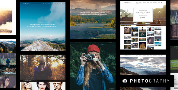 Photography WordPress theme for professional photographer