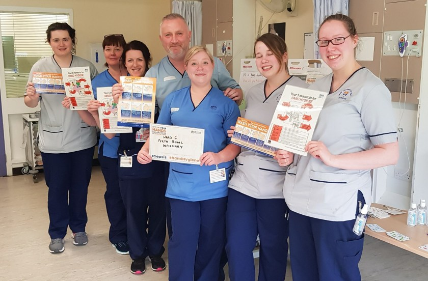 SIDE NHS Tayside supports SAVE LIVES Clean Your Hands Campaign 3