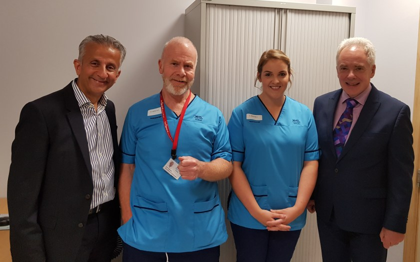 Dilip, Malcolm and ct scan staff