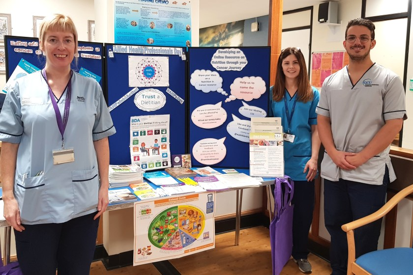 15-10-2018 NHS Tayside celebrates AHPs Day- AHPs day stand in Ninewells Hospital