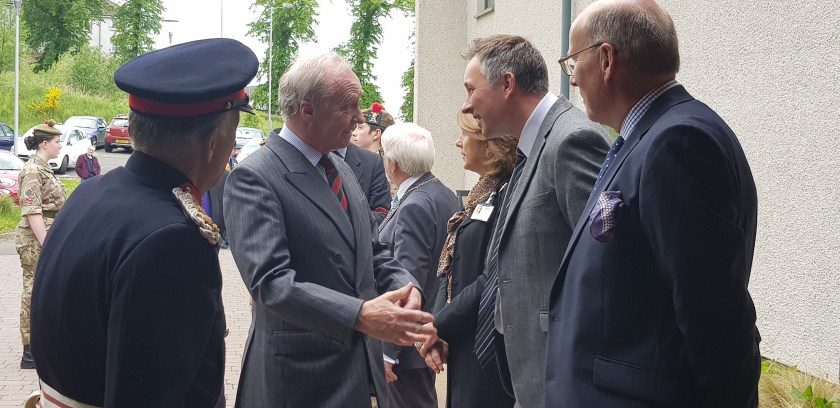 MAIN Duke of Buccleuch and Queensberry visits Cornhill Macmillan Centre in Perth - Meeting Deans Buchanan
