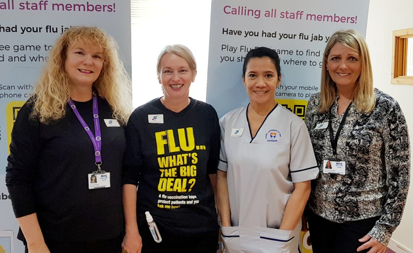 03-10-19 Staff flu vaccination campaign kicks off in NHS Tayside