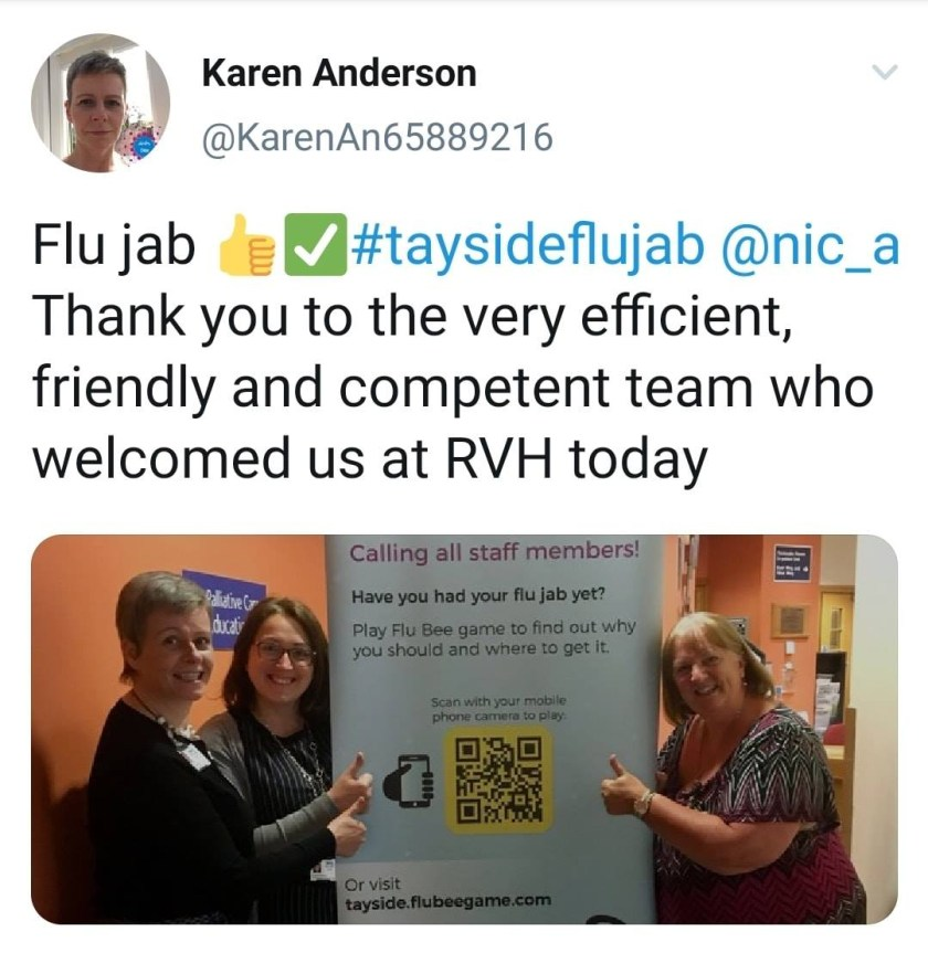 MAIN We've had our flu jab, have you - AHPs RVH
