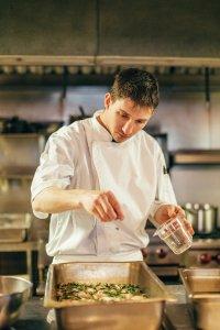Chef Corey Fletcher preparing food