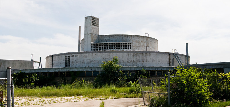 The beautiful but abandoned Building 330, which housed the 1950s-era Chicago Pile 5 reactor. Argonne was also the second home of Enrico Fermi's Chicago Pile 1, which was moved to the lab from the University of Chicago in 1943 and renamed Chicago Pile 2.