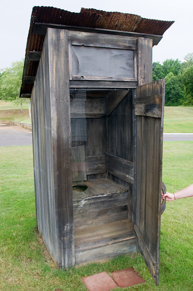 Elvis's childhood outhouse